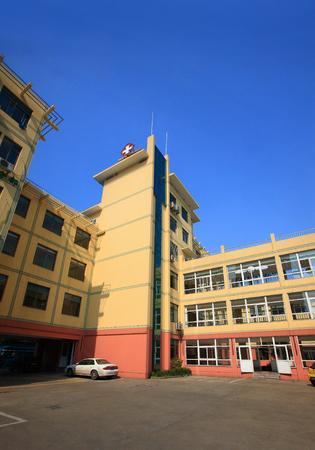 parking facilities: Exterior view of the Song Zhaoqiao Hospital in Yinzhou, Ningbo Editorial