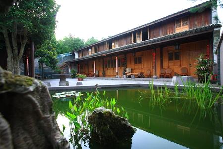 courtyard: Courtyard in Yinzhzou Siming Mountain Resort Editorial