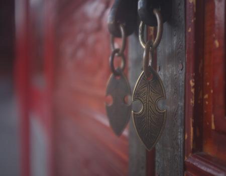 door knob: Close up of metal door knob decoration Stock Photo