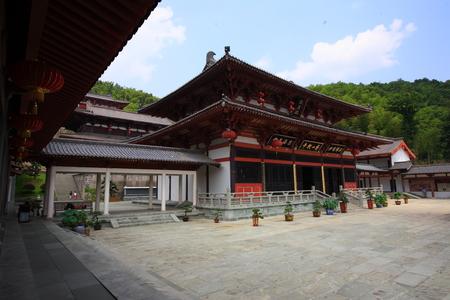 courtyard: Xiangshan temple courtyard