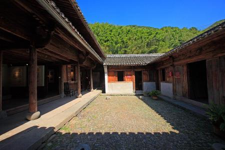 courtyard: A courtyard in Tong village