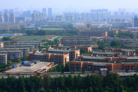 higher education: Aerial view of Yinzhou Higher Education district