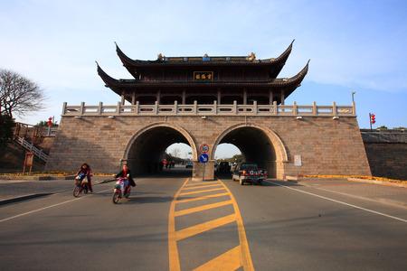 seawall: Traffic through Zhenhai Houhai Seawall Editorial