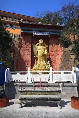 treasurer: A golden sculpture in Zhenhai Zhaobaoshan