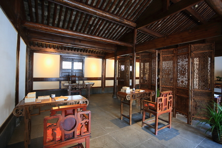 chinese traditional house: Interior of chinese traditional house