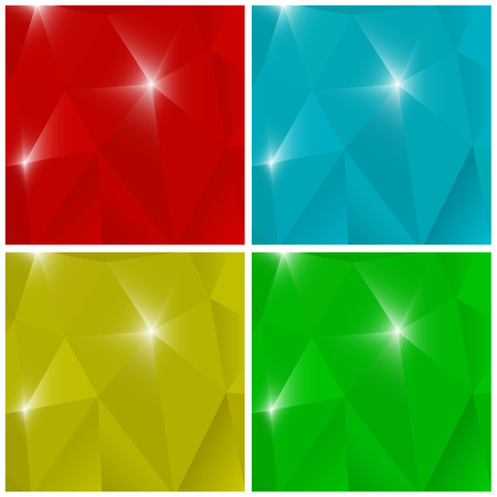 backgrounds: Four colorful polygonal backgrounds. Illustration