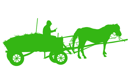 Image silhouette of peasant with gadget.