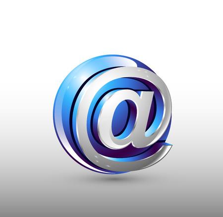 Image sign web. Blue 3d logo design.