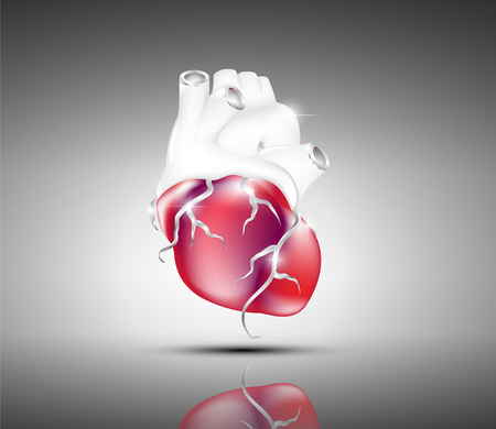 Artistic image abstract heart design. Illustration