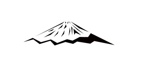 Artistic Logo mountain (Fuji). Black triangles.