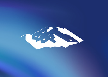 mountaineering: Snow mountains peak (Denali) logo. Mount McKinley. Illustration