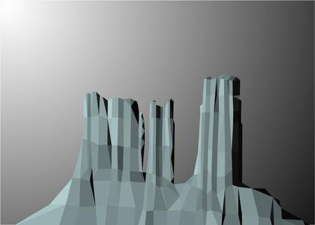 Landscape background. Western desert. Rocks. Grey tones.