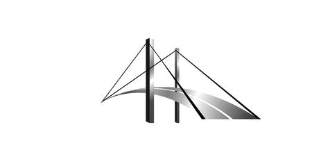 Logo silver american bridge.  イラスト・ベクター素材