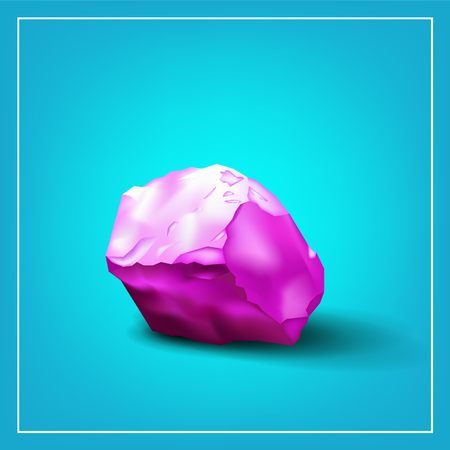 refrigerate: Design logo. Ice cube. 3d. Abstract pink tones.
