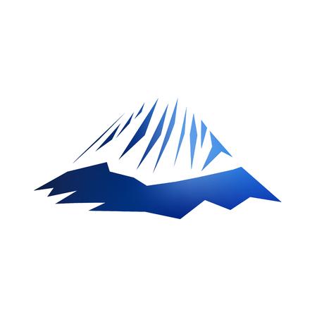 Image snow mountains peak (Alpamayo) logo. Illustration