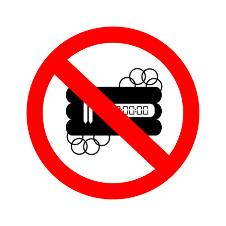 no nuclear: No bomb sign. Illustration