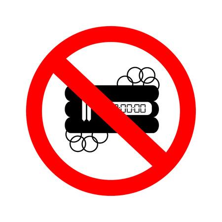 No bomb sign. Illustration
