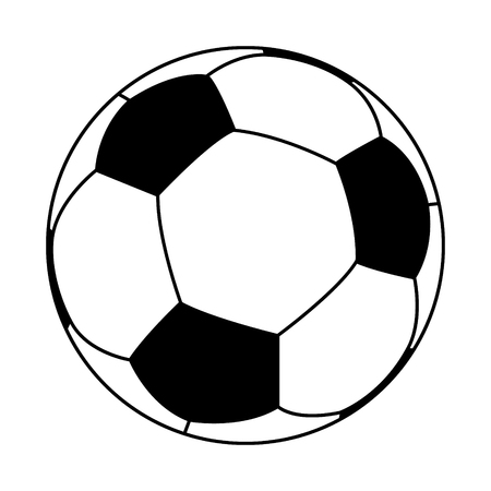 3D logo of football (soccer) ball.