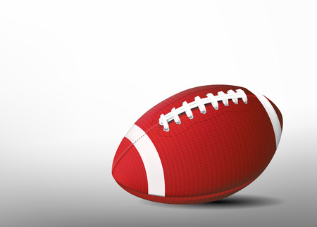 Football ball. 3d sport banner.