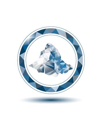 Mountain emblem with circle frame Stock Photo - 76661336