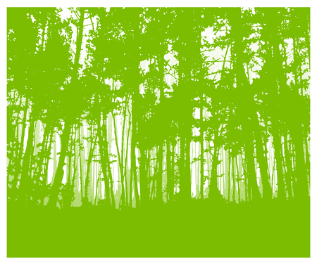 Woodland eco banner. Green tones. Can be used as poster, badge, wallpaper, backdrop, background.