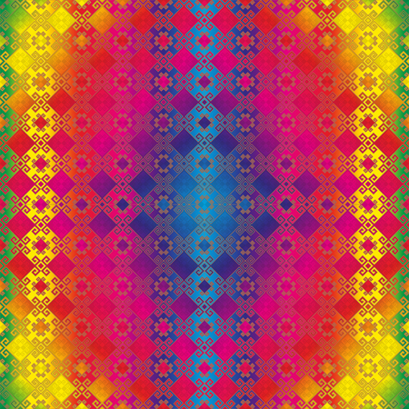 east indian: Image background seamless pattern multi colour. Indian motifs.
