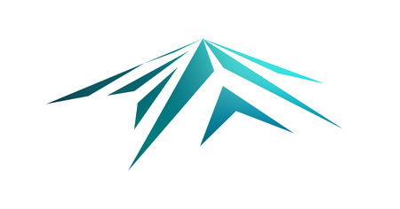 Logo emblem of snow mountain peak (Mont Blanc).