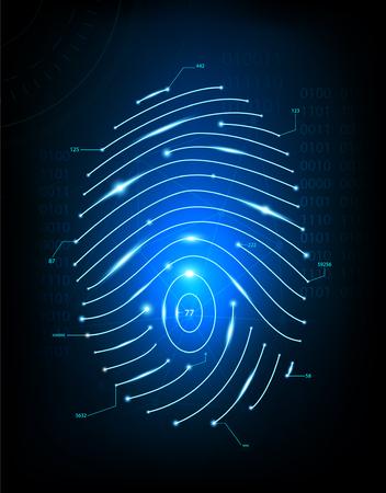 Fingerprint scan in screen.