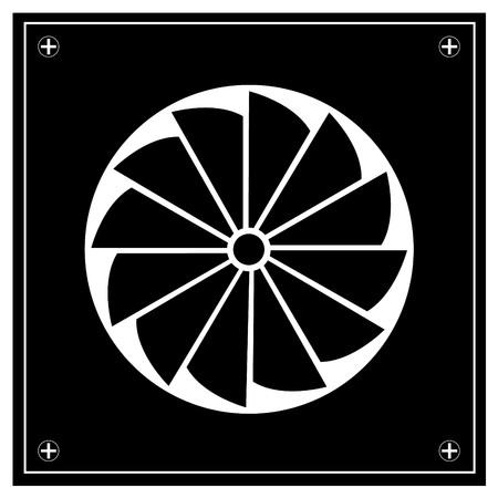 exhaust fan: Exhaust fan icon. Stock Photo