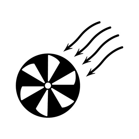 Fan air propeller icon. Stock Photo