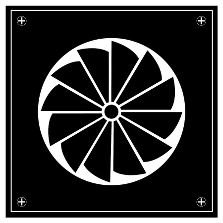 dioxide: Exhaust fan icon. Illustration