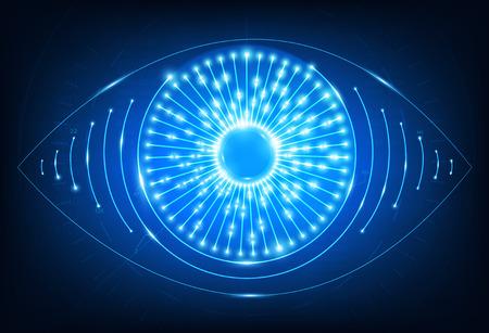 Eye neon web icon.