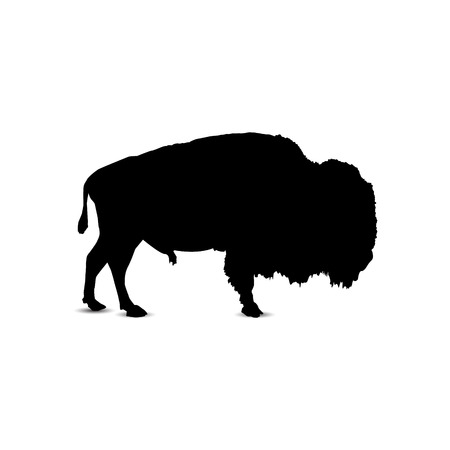 Silhouette of bison.