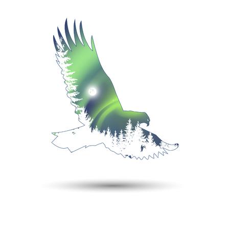 Belle silhouette daigle volant dans le ciel surr/éaliste Sweat /à Capuche
