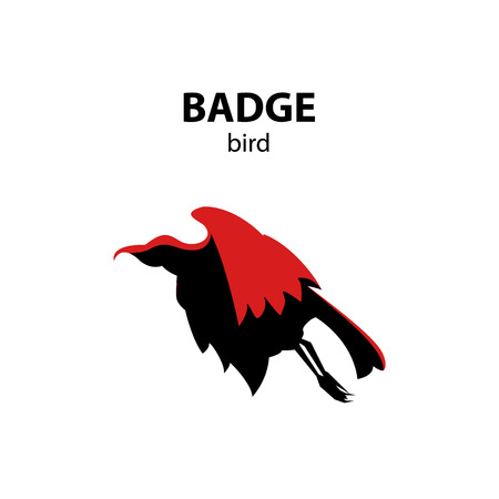 Flying bird badge. Stock Photo