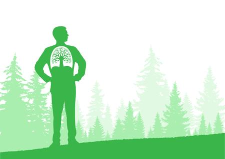 Horizontal eco banner. Can be used as poster, background, backdrop Ilustração Vetorial