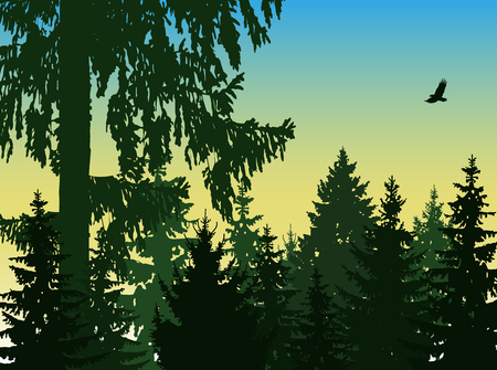Landscape. Eco banner. Natural tones.