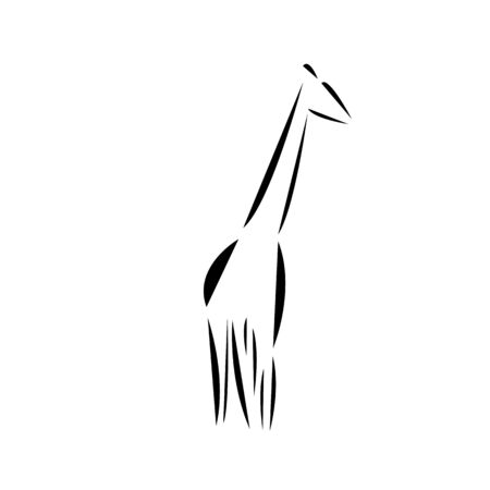 Schematic  icon of  african giraffe. 스톡 콘텐츠