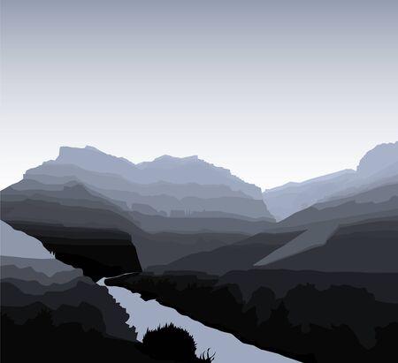 Western desert background. Rocks. Grayscale tones.