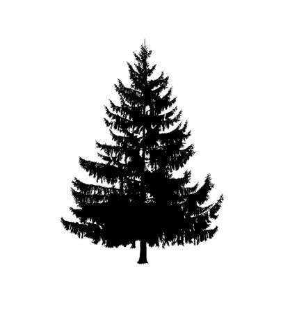 Silhouette of fir. Hand made.