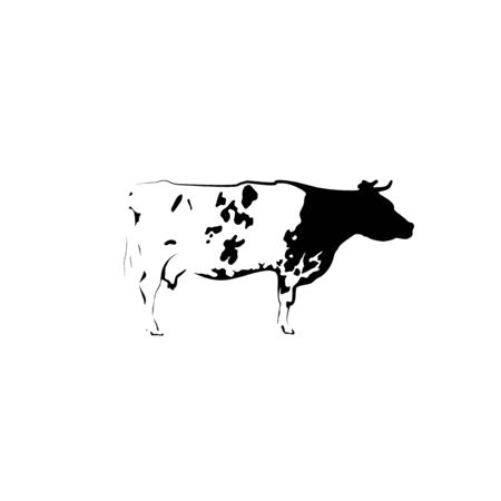 Icon of spotted black and white cow.