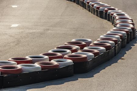 tires for go-cart race track Stok Fotoğraf