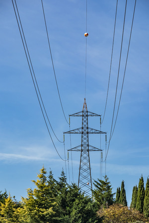 energy transmission line with cables