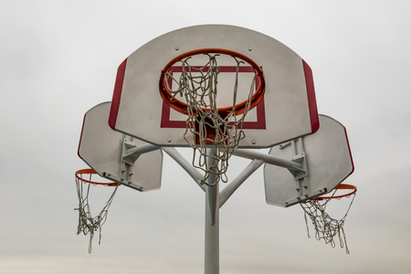 basket hoops for basketball game Banco de Imagens
