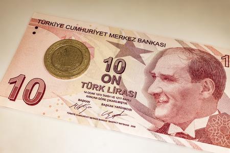 close up turkish banknote