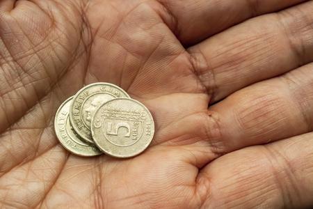 close up turkish metal coins Stok Fotoğraf - 121218544