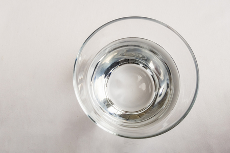 drinkable water in glass cup Imagens
