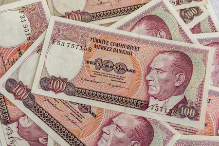 old turkish lira banknotes