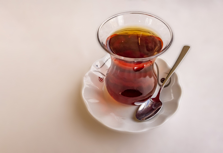 Turkish tea in glass cup