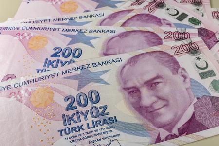 two hundred turkish liras Stok Fotoğraf - 123662742